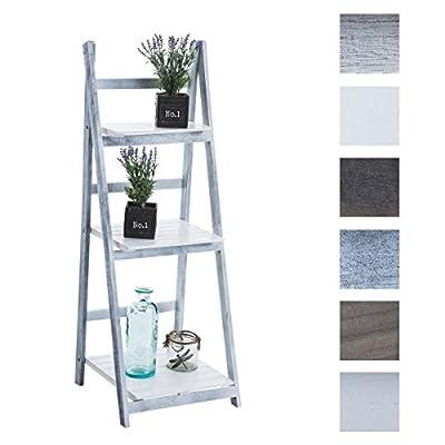 CLP Wooden Ladder Shelf / Flower Rack YANA, 3-Tier, 110x40x40 cm, foldable