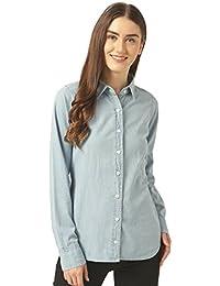 6c478e7d1d Miss Chase Women s Light Blue Denim Shirt