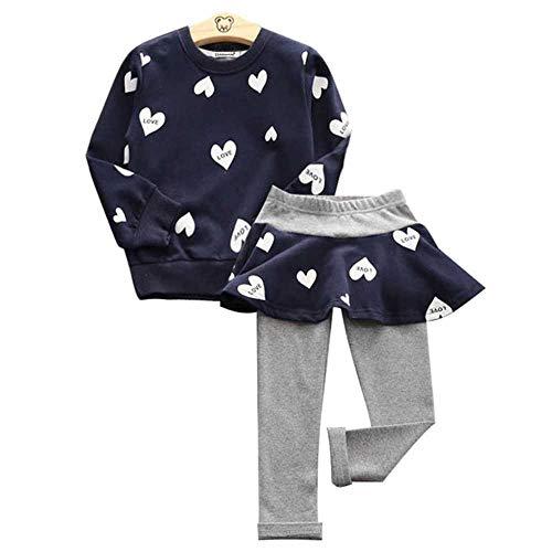 Kleinkind Mädchen Kleidung Kinder Herbst Winter T-Shirt + Hosen Weihnachten Kleidung Mädchen gedruckt Outfits