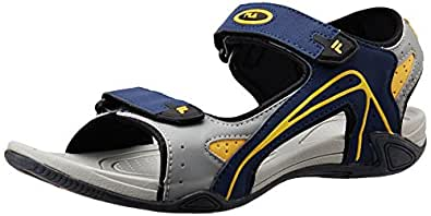 Fila Men's Lauro Navy and Grey and Yellow  Sandals and Floaters -11 UK/India (45 EU)