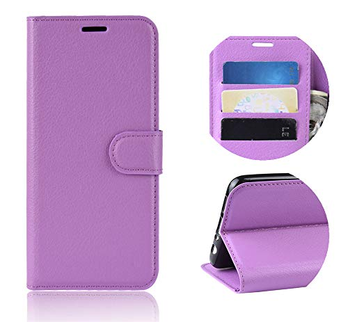 XunEda Funda para ZTE Blade V10 Vita, Flip Funda Wallet Case Caso Móvil Cuero PU Función de Soporte Protectora Case para ZTE Blade V10 Vita Smartphone (Púrpura)