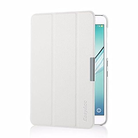 Samsung Galaxy Tab S2 8.0 Hülle, EasyAcc Ultra Dünn Case mit Standfunktion Auto Wake up Sleep PU Leder Hüllen für Samsung Galaxy Tab S2 T719/ T715N 20.31 cm (8 Zoll) Tablet-PC (Weiß, Kunstleder)