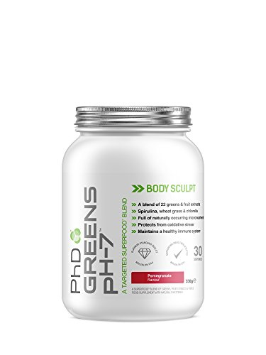 PhD Nutrition Greens pH-7 Powder, Pomegranate, 330g