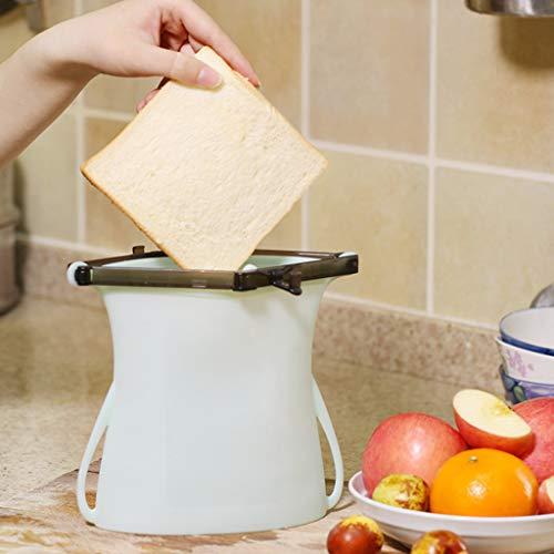 AMhomely® NEU! Multifunktionale Silikon Frische Tasche - Wiederverwendbare Dichtungs-Silikon-Nahrungsmittelfrische-Beutel-Vakuumierer-Fruchtfleisch-Milch-Speicher-Beutel (Grün)
