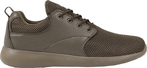 Urban Classics Light Runner Shoe Unisex-Erwachsene Low-Top Grün (d.olive/d.olive 716)