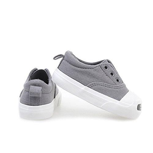 ALUK- Chaussures de bébé - Chaussures de toile pour enfants Apprenez les chaussures paresseuses ( Couleur : Gris , taille : 21 ) Gris