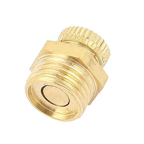 sourcing map Luftverdichter Metall 1/4 BSP Außengewinde Wasserablassventil Gold Tone DE de