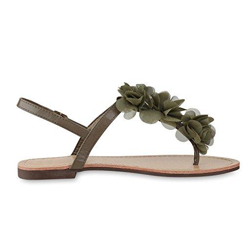 napoli-fashion - Infradito Donna Verde scuro