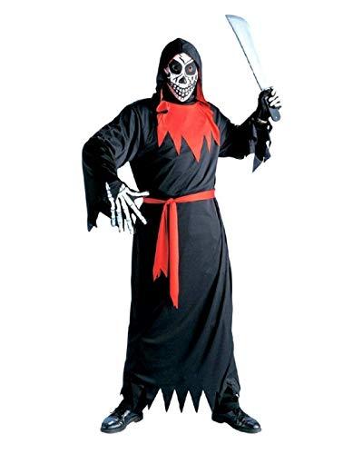 Widmann Größe L - Kostüm - Verkleidung - Karneval - Halloween - Dämon Teufel Phantom Tod - Schwarze Farbe - Erwachsene - Mann - Junge