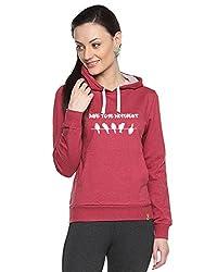 Campus Sutra Womens Printed Maroon Sweatshirt (AW15_H_W_DT_MA_XL)