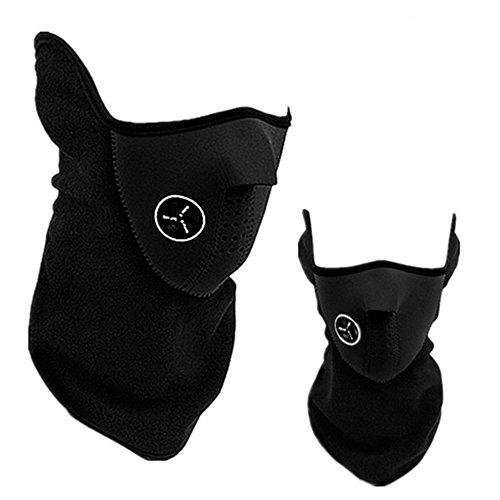 Himki Winter Gesichtsmaske Skimaske Motorrad Sturmmaske zum Winddicht und Staubdicht (schwarz)