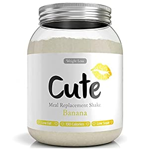 Cute Nutrition Shake alla Banana Sostitutivi del Pasto per la Perdita e Controllo di Peso Bevanda Dietetica Dimagranti per Donne 500g 2 spesavip