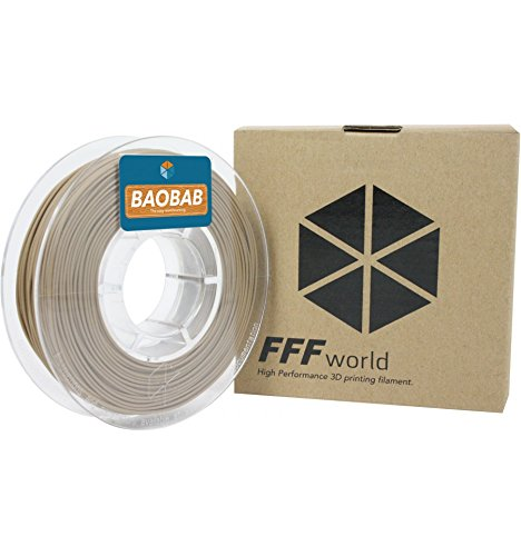 FFFworld 250 gr. Baobab 1.75 mm - Filamento de Madera para Impresora 3D - Wood Filament for 3D Printer