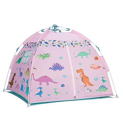 Spielzelt Kinder Schloss, Indoor Outdoor mit Mesh Dach perfekte Spielzeug Geschenk für Kleinkinder Kinder (Farbe : Rosa) - Mesh-dach