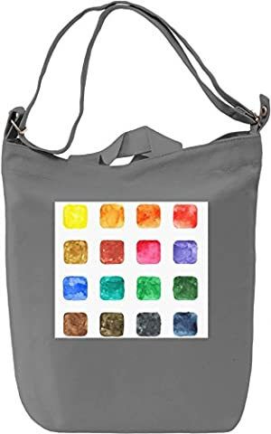 Colorful Square Pattern Canvas Bag Day Canvas Day Bag| 100% Premium Cotton Canvas| DTG Printing|