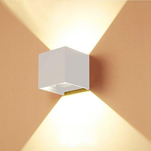 Phoewon regolabile 7 W LED interno esterno bagno lampada da parete ...