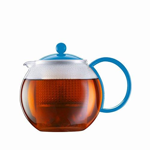 Bodum Assam - Modern Tea Pot - Glass and Plastic - Green - 1.0 l, 34 oz