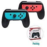 Walfront Nintendo Switch Grip Joy-Con Controller Kabelloser Verschleißfester Comfort Game Controller Griffsatz(Schwarz)