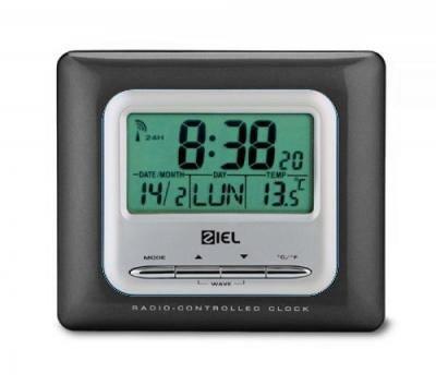 Wetterstationen Ziel Polaris 40 Schwarz Black - Thermometer Funkuhr