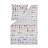 Estella Bettwäsche Spot 4709 958 Bunt Punkte Tupfen Mako-Satin  155x220 cm + 80x80 cm