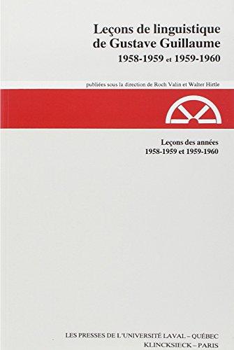 Leçons de linguistique (1958-1959 et 1959-1960), tome 13