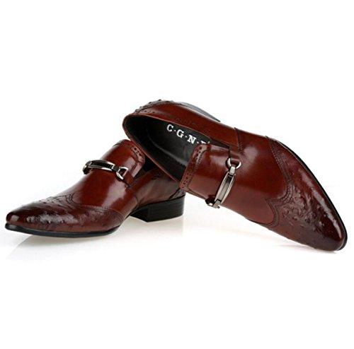 Scarpe Da Uomo Puntine Scarpe Set Di Piedi Abiti Scarpe Da Lavoro Nozze Scarpe In Pizzo Brown