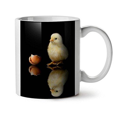 éclos Jaune poussin Just Born Thé Blanc Café Mug en céramique 311,8 gram Wellcoda