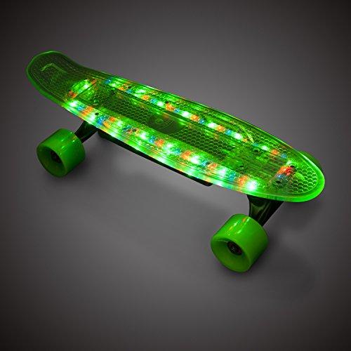 OZO 22 LED Elektro-Skateboard Elektisch Skate Board Longboard Kabellose Steurung Wireless Control Remote Control, 200 Watt 15km/h Neu, Schwarz -