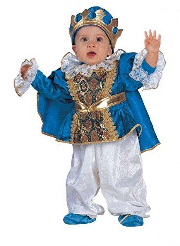 Kleine Prinz Der Ideen Kostüm (Premium Prinzen-Kostüm für Babys mit Umhang, Krone und Füßlinge | Hochwertiges Karnevals-Kostüm / Faschings-Kostüm / Babykostüm | Perfekte König Verkleidung für Karneval, Fasching, Fastnacht (Größe:)