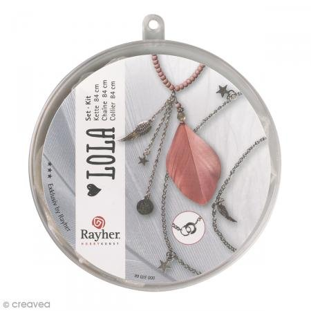 Rayher Set créatif Collier « Lola » Vieux rose