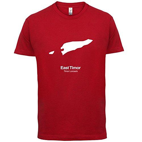 East Timor / Osttimor Silhouette - Herren T-Shirt - 13 Farben Rot