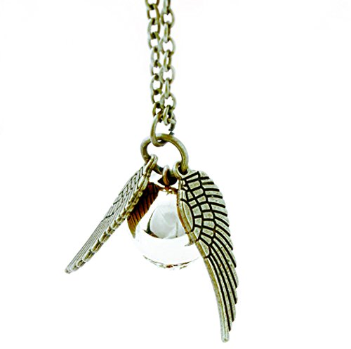 Collier Quidditch, Bijoux Couleur Bronze | Accessoire pour Déguisement | Collier Vif D'Or Quidditch, Golden Snitch Necklace - Stoke Home