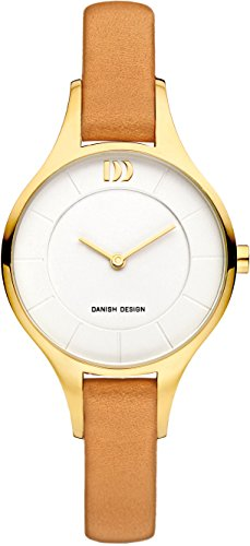 Danish Design Damen Analog Quarz Uhr mit Leder Armband IV15Q1187