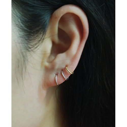 Orecchino dell'argento sterlina della cartilagine, Helix, trago, lobo dell'orecchio, naso anello, orecchino, anello di cartilagine piccoli piercing / prezzo per un elemento