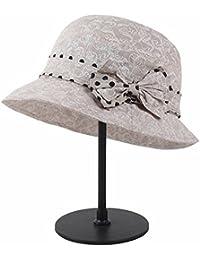 Easy Go Shopping Ollas Gorra Primavera y Verano Algodón Plegable Protección  Solar UV Sombrero Solar Sombrero b1ddc2b4402