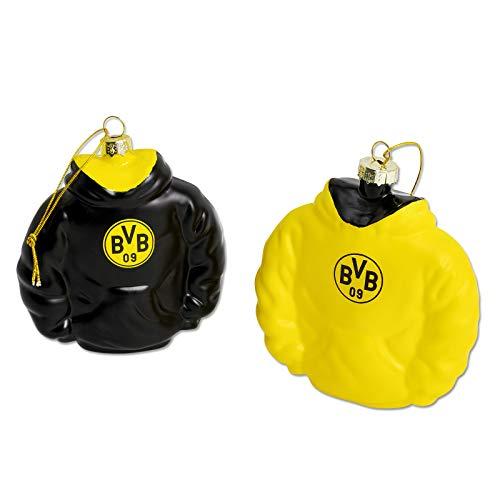 Borussia Dortmund 2er-Set BVB Christbaumkugeln Baumschmuck Hoodie