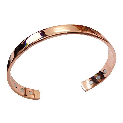 BEWISH Kupfer magnetische Armreif Starken Magneten Armband Schmerzlinderung Armspange gegen Arthritis Gesundheit Armband Therapie Armbänder Elektrolytenkupfer Armreif Gold Rosa