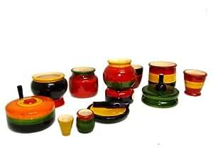 Funwood Games Wooden Kitchen Set Toy for Girls