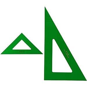 Faber-Castell – Pack escuadra para dibujo técnico, 28 cm + Cartabón para dibujo técnico, 28 cm