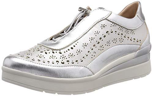 Stonefly Damen Cream 15 Laminated LTH Gymnastikschuhe Silber (Silver Metal 058) 36 EU