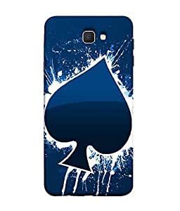 Nextgen Designer Mobile Skin for Samsung On5 (2016) New Edition For 2017 :: Samsung Galaxy On 5 (2017) (Blue White painting design Dark)