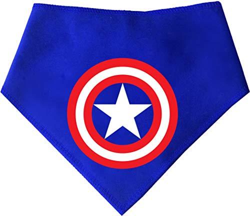 S2 Captain America Superhero Hund Bandana Reihe. Für Umhang Hunde Crusaders (Größe 2Small/Medium Dog-passt 27,9cm-40,6cm Hals, Captain America) ()