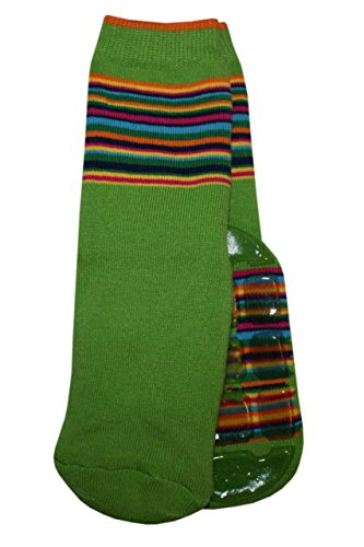 Weri Spezials Unisexe Bebes Voll-ABS-Turtle Chaussettes Colorful mondiale! Vert 12-24 Mois (19-22)