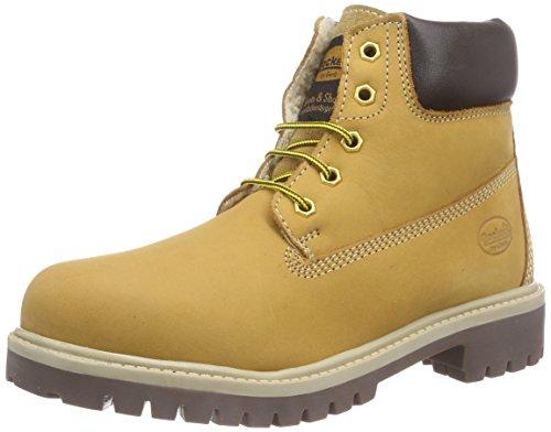 Dockers by Gerli 35FN701-300910, Unisex-Kinder Combat Boots, Gelb (golden tan 910), 37 (Für Stiefel Jungen Combat)