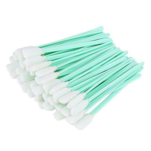 50 Stück / Pack Handwerk Schaum Wattestäbchen, Reinigungsschwamm Tupfer Stick, Grün Staub Freie Wattestäbchen Färben Malerei Polierwerkzeug -