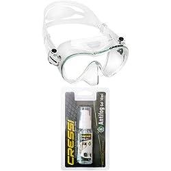Cressi F1 Premium Masque Plongee Snorkeling Adulte + Cressi Premium Anti Fog - Antibuée en Gel pour Masque de Plongée/Lunettes de Natation
