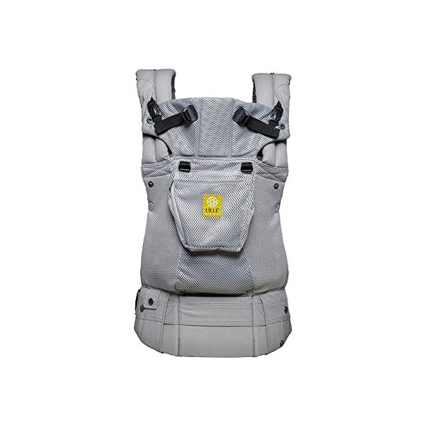 LÍLLÉbaby  Complete Airflow 6-in-1 Baby Carrier, Grey Mist Lillebaby Made from breathable mesh fabric to help keep parent and child cool and comfortable and with 6 carrying positions - Foetal, infant inward, outward, toddler inward, hip, back - The only carrier you'll ever need! Suitable from 3.2- 20kg (birth to approx. 4 years old), providing extended comfortable use for parent and child with no additional infant support required for new-borns - the ergonomic adjustable seat is acknowledged as 'hip-healthy' by the International Hip Dysplasia Institute Unique spacious head support with elasticated straps - soothes infants with gentle lulling motion and provides excellent support as children grow 1