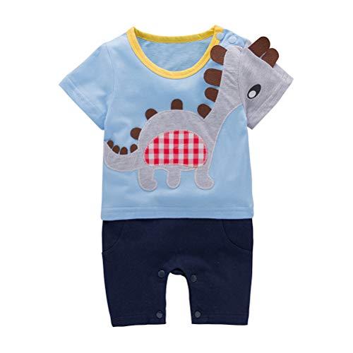 (Nyan Cat May – Baby, Kleinkind, Jungen, kurze Ärmel, Dinosaurier, Kostüm, Strampelanzug, Einteiler Gr. 3-6 Monate, blau)