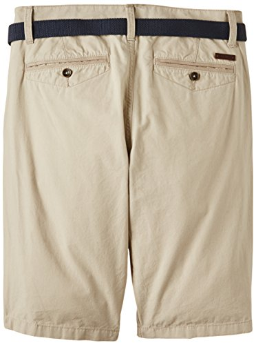 TOM TAILOR Herren Shorts solid belt bermuda/506 Beige (cement beige 8179)