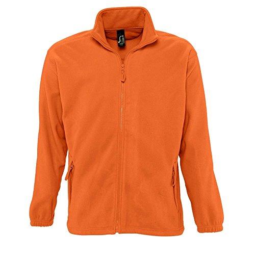 SOLS Herren Outdoor Fleece Jacke North Orange